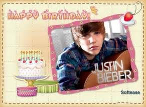 justin bieber his birthday is coming softease