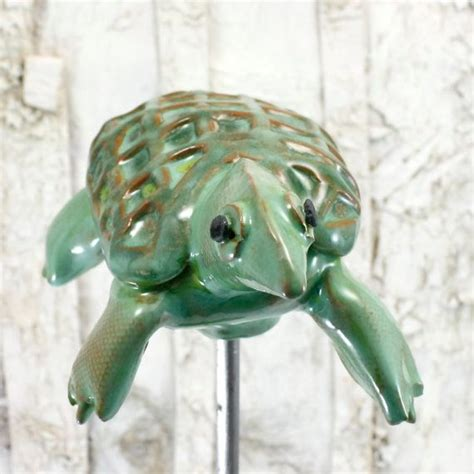 Ceramic Garden Decor Garden Turtle Ceramic Garden Decor Stake Yard Ornament In Hemloc