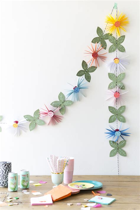 Garland With Paper Flowers - paper flower garland