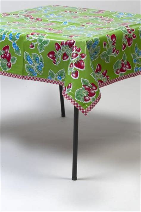 To Market Recap Cground Tablecloth by Rectangle Oilcloth Tablecloth Freckled