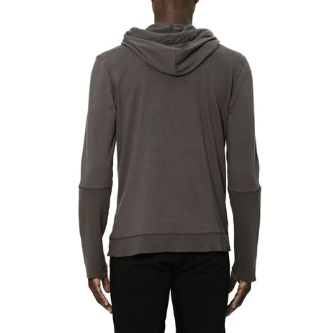 Hoodie Cross cross neck sleeve hoodie charcoal m uncommon thrds touch of modern