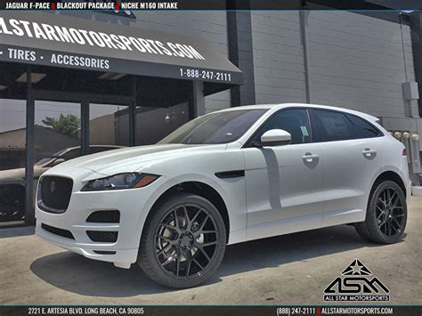 jaguar f pace blacked out white jaguar f pace blackout package on niche m160