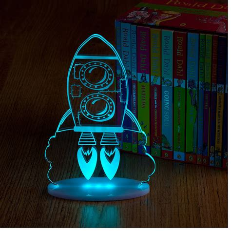 Boys Lights Boys Rocket Night Light By Spotted Notonthehighstreet Com
