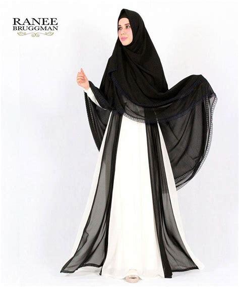 Gamis Busana Muslim Syari Syari Syarie Hitam Black aisha syar i by ranee bruggman baju gamis bahan jersey mix