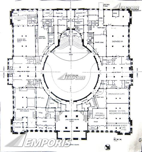 and the city floor plan original floor plan blue print city hall brisbane