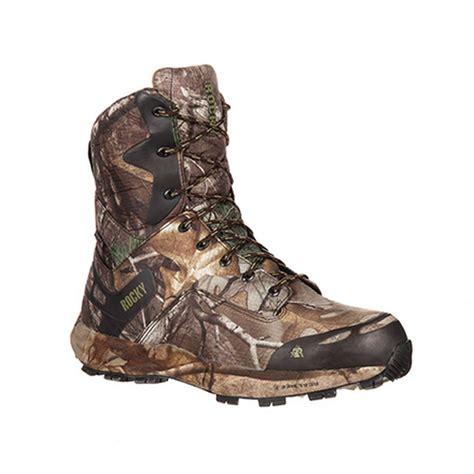 mens camo boots rocky rks0193 mens broadhead camo waterproof insulated 8