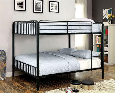 full over full metal bunk beds clement black full over full metal bunk bed cm bk928ff