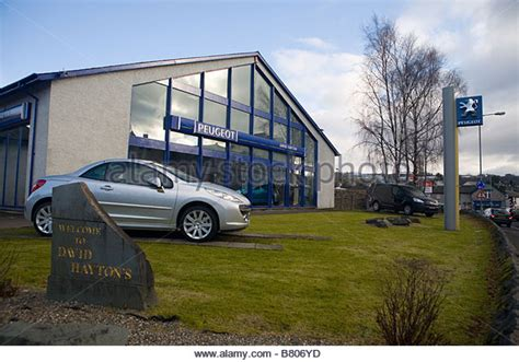 peugeot main dealer car show room for sale stock photos car show room for