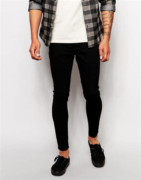 super skinny jeans shop for mens super skinny jeans asos cheap monday jeans low spray super skinny black in black
