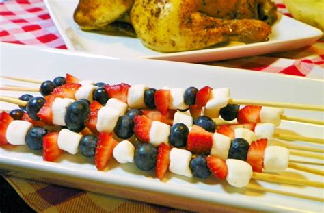 Ideas For Christmas Table Gifts - patriotic fruit kabobs around my family table
