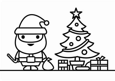 como dibujar a santa claus dibujos de navidad para dibujo para colorear pap 225 noel con 225 rbol de navidad img