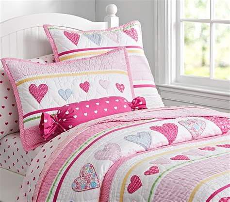 heart bedding heart quilted bedding pottery barn kids
