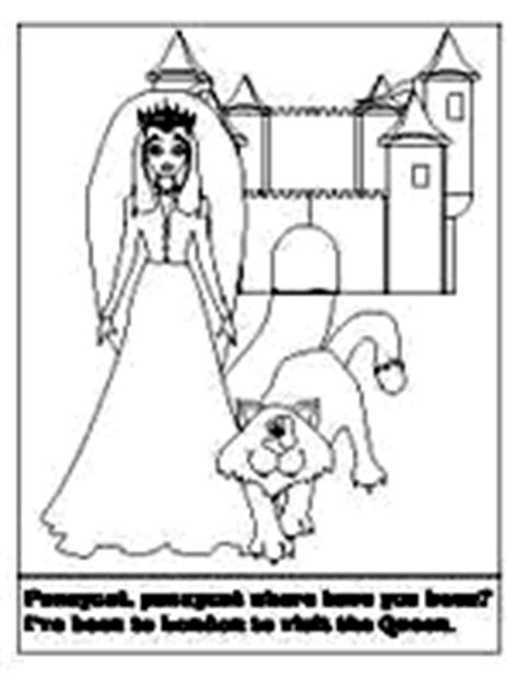 Pussycat Pussycat Coloring Pages Dltk Nursery Rhyme Coloring Pages