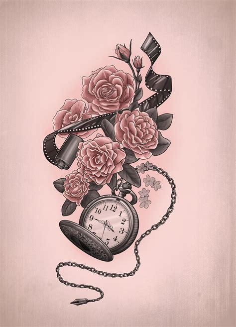time tattoo ideas design mortani
