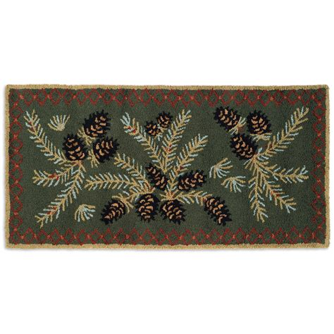 Wool Hook Rugs by Pine Hooked Wool Accent Rug