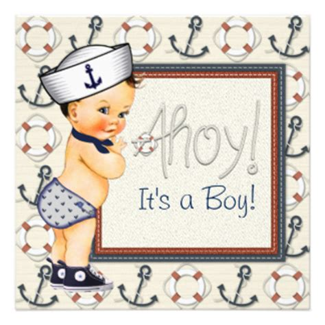 Sailor Baby Shower by Sailor Boy Nautical Baby Shower 5 25x5 25 Square