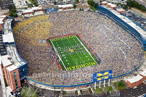 michigan big house aerials uconn 436a michigan photo store