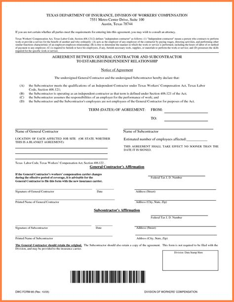 general contractor contract template free 7 contractor contract template marital settlements