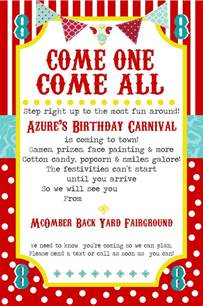 Carnival Invitation Templates by Free Printable Carnival Invitation Template