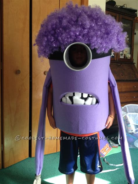 Handmade Costume - coolest purple evil minion costume from