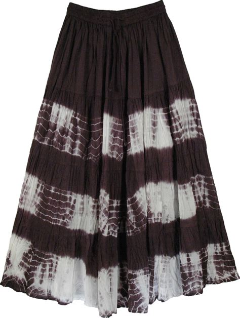black white tie dye indian skirt clearance sale on
