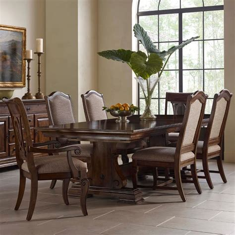 kincaid dining room sets kincaid furniture portolone seven piece trestle table