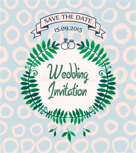 Wedding Invitation Card Vector Design by Vector Wedding Invitation Card Design Template Stock