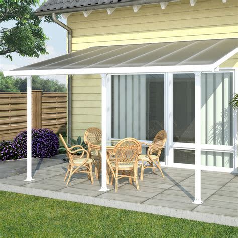 patio awnings lowes palram canada 702721 feria 10 ft x 14 ft patio cover
