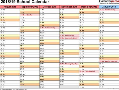 printable calendar 2015 to 2018 school calendars 2018 2019 as free printable word