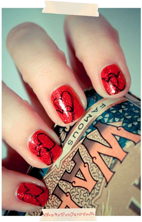 red heart nails pictures   images  facebook