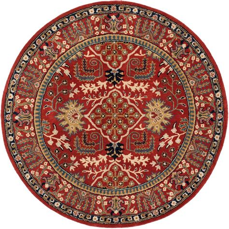 Safavieh Antiquity Red Multi 6 Ft X 6 Ft Round Area Rug 6 Ft Rugs