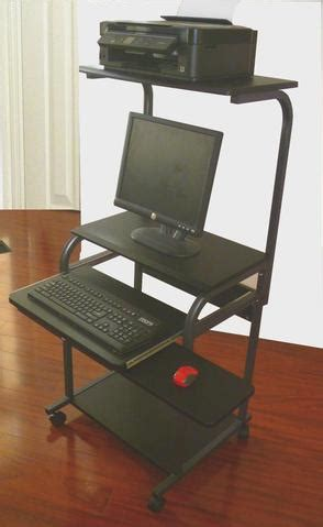 Mobile Computer Tower With Shelf by Sts 5801e Cd 24 Quot Mobile Computer Desk With Tower Shelf