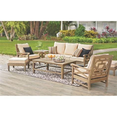Martha Stewart Living Blue Hill Wood Outdoor Deep Seating