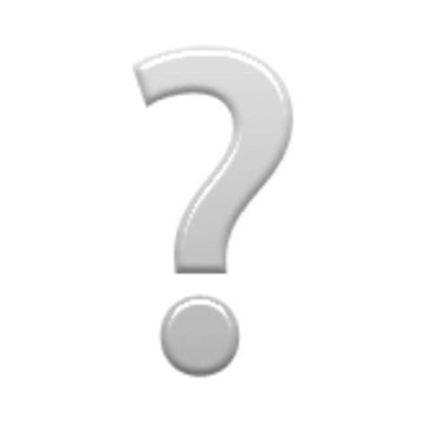 emoji question mark white question mark ornament emoji u 2754 u e336