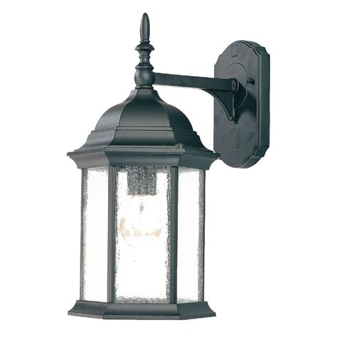 Outdoor Shop Lighting Shop Acclaim Lighting Craftsman 16 In H Matte Black Medium Base E 26 Outdoor Wall Light At