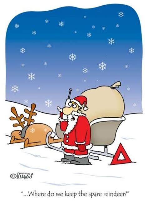 santa   spare reindeer christmas comic funny christmas cartoons christmas cartoons