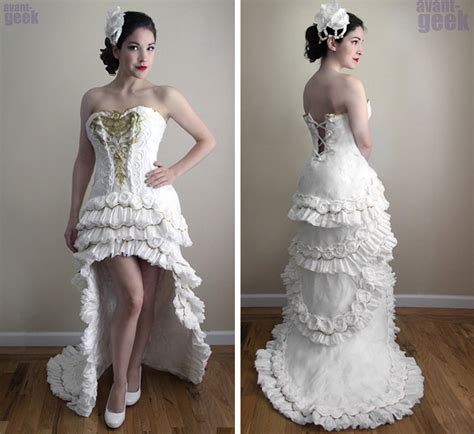 Make A Dress Out Of Paper - toilet paper wedding dress