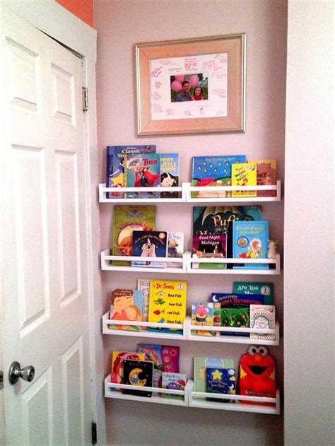 17 Best Organize Books Images On Pinterest Child Room Spice Racks For Bookshelves