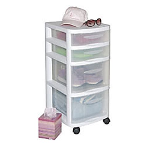 Office Depot Storage Drawers by Office Depot Brand Plastic Storage Tower Cart 4 Drawers 27