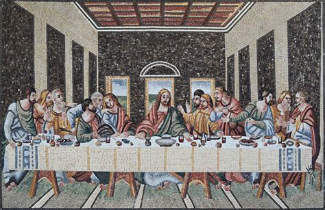 last supper wall mural religious christian mosaic the last supper wall tile