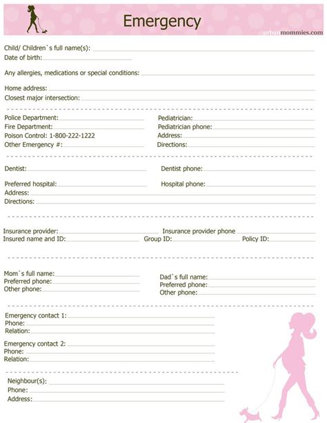 emergency contact list template office emergency contact list template