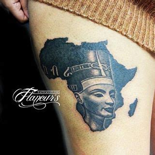 queen face tattoo african queen tattoos on thigh map tattoo designs