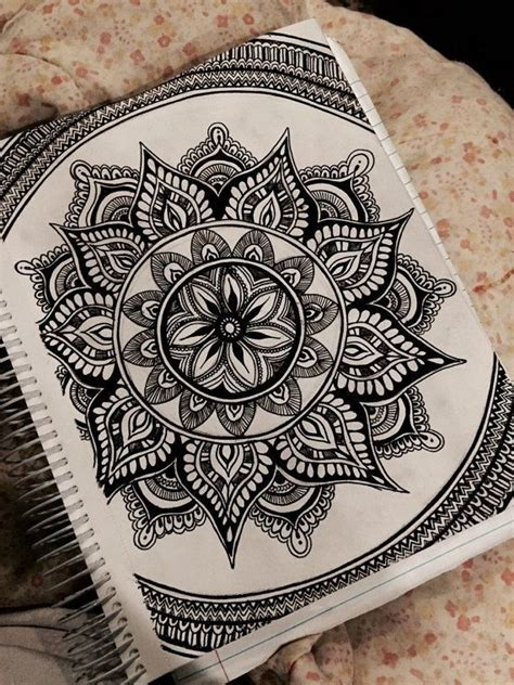 mandala pattern sketch mandala ink drawing by artbyalyssia on etsy wow you
