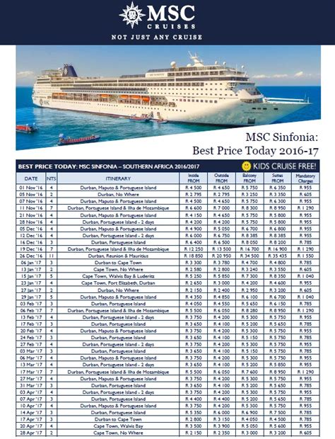 boat cruise in durban prices plan your msc cruise around south africa now south