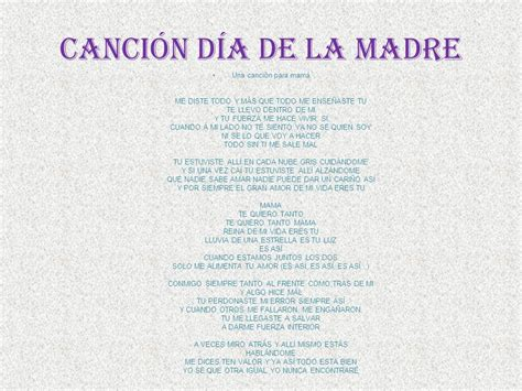 la canci n del d a de la madre song of mothers day feliz d 237 a de las madres la fecha del d 237 a de la madre y la