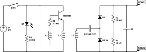 transistor d882 diagrama capacitor how does this mosquito zapper circuit work electrical engineering stack exchange