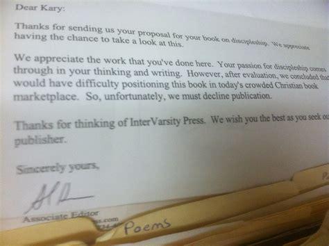 Rejection Letter Publisher Rejection Letter From Publisher Kary Oberbrunner