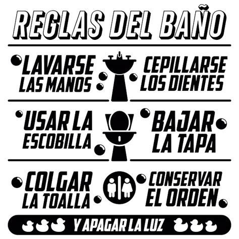 bagno in spagnolo sticker murali bagno regole da bagno stickersmurali