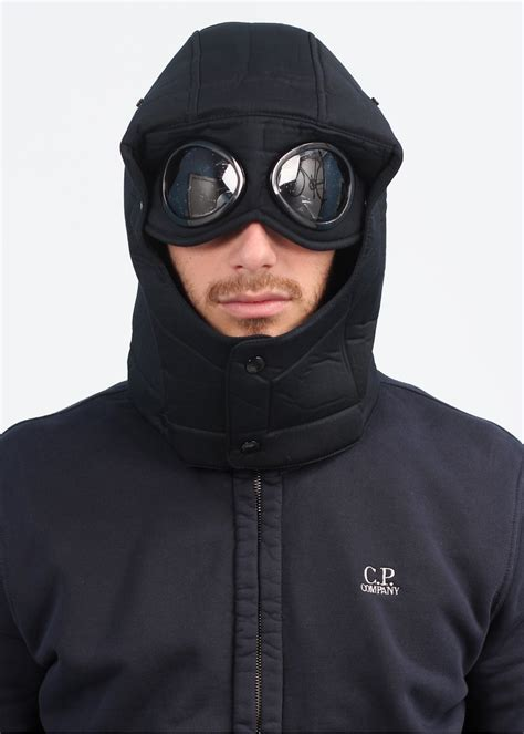 Cp Hoodie Wing Lt Sweater Babyterry cp company garment dyed goggle zip hoody blue