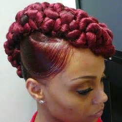 mwahahwk hairstule done using braided mohawk hairstyles on one side 10 gorgeous